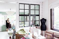 B/W Finnish Studio with interior windows ~