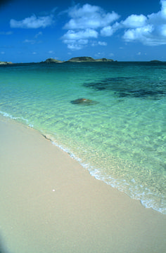 Crystal clear sea. Isles of Scilly...England