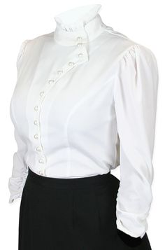 Vesta Blouse Ruched Sleeve - White