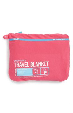 """- A lightweight but cozy travel blanket that can also be used as a soft pillow is printed with the amusing instructions: """"In case of sleep emergency. Apply blanket to body and close eyes."""" - Blanket m"""