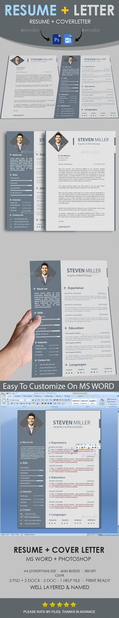 """Simple Resume by thegraphichive SIMPLE RESUME """" Simple Resume """" is the super clean, professional and simple resume cv template to help you land that great job. Th"""
