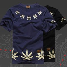 Online Shop 2014 New fashion Top male mens t shirt street mens clothing summer cotton hip-hop weed Print design short-sleeve T-shirt Aliexpress Mobile