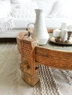 beautiful light wood washed coffee table..ethnic ..helt enkelt