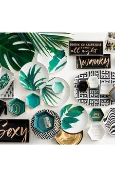 Crushing on this new collections of plates + dishes @ Nordstrom! #tropicaldecor