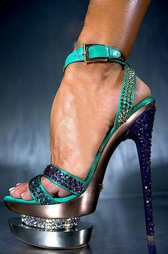 I am all for a pretty heel... but I don't think your foot is supposed to bend this way...