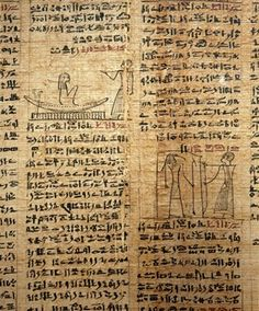 A fragment of a funerary papyrus of Kahapa with text from the Book of the Dead…