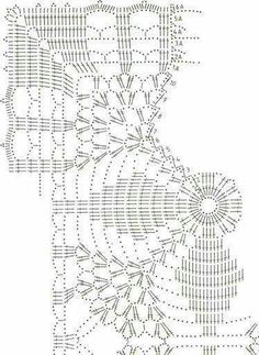 Large Square Motif With Lace - Diy Crafts - Knit & Share Filet Crochet, Crochet Doily Diagram, Crochet Squares, Crochet Chart, Thread Crochet, Crochet Bedspread Pattern, Crochet Motif Patterns, Crochet Table Runner, Crochet Tablecloth