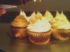 Pumpkin Maple Whiskey Cupcakes