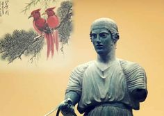 Simple Minds, Ancient Beauty, Greek Quotes, Ancient Greece, Buddha, Statue, Blog, Painting, Lava