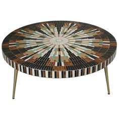 Mosaic Tile Sunburst Coffee Table | From a unique collection of antique and modern coffee and cocktail tables at http://www.1stdibs.com/furniture/tables/coffee-tables-cocktail-tables/
