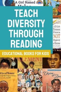 Teach preschool and kindergarteners about diversity and inclusion with these wonderful and educational books. These books that teach kids how to see the beauty of diversity are a perfect addition to your diverse bookshelf. Include these children's books in your classroom curriculum for Black History month or any time of year. This book list includes fiction & nonfiction stories from real life heroes & ordinary people. Follow us here & visit ThePeacefulPress.com for more incredible bo Teach Preschool, Teaching Kids, Spanish Books For Kids, Homeschool Books, Homeschooling, Incredible Kids, Reading Resources, Teacher Resources, Alternative Education