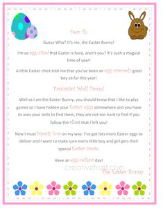 Letter From The Easter Bunny Printable  LifeS All About Little
