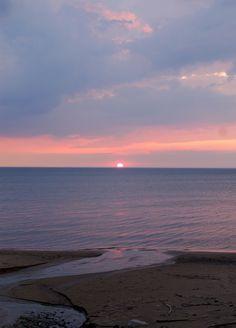 Lake Huron at sunset