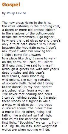 Gospel by Philip Levine - This man...
