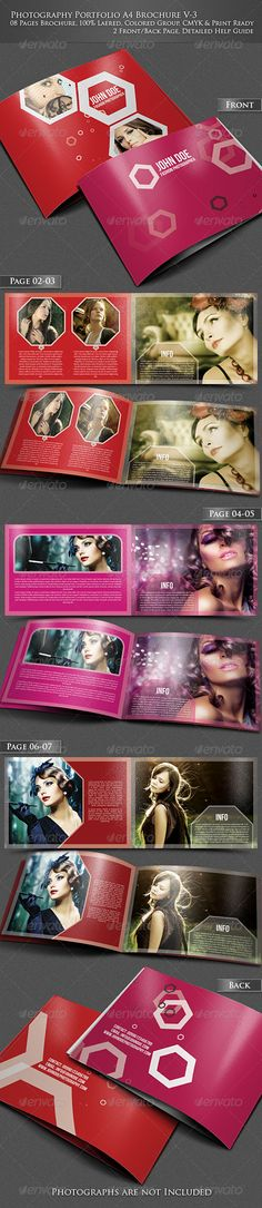 Photography Portfolio A4 Brochure -V3  —  PSD Template • Only available here! →…
