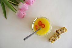 #Orange #juice #pink #tulips