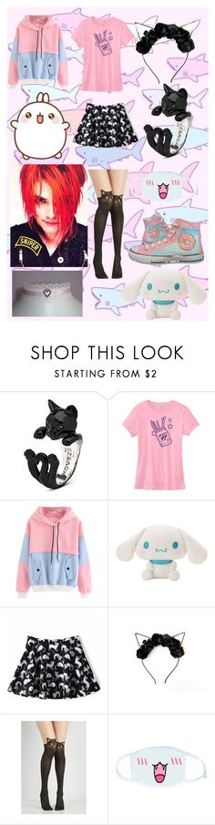 """For Eko 🌈"" by takatsuki ❤ liked on Polyvore featuring Converse, GET LOST and cutekawaii"