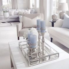51 Ultimate Romantic Living Room Decor Ideas, Home Accessories, nice 51 Ultimate Romantic Living Room Decor Ideas. Romantic Living Room, Home Living Room, Silver Living Room, Living Room Decor Elegant, Living Room Inspiration, Home Decor Inspiration, Decor Ideas, Room Ideas, Color Inspiration
