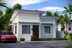 100 photos of beautiful tiny bungalow & small houses Best Small House Designs, Small Cottage Designs, Beautiful Small Homes, Beautiful House Plans, Cottage House Plans, Small House Plans, Modern Bungalow House, Modern Houses, Low Cost Housing