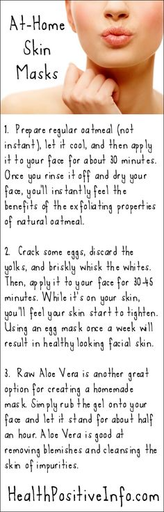 At-Home Skin Masks  http://healthpositiveinfo.com/create-healthy-glowing-skin-at-home.html