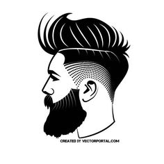 Beard Silhouette, Smal Tattoo, Barber Logo, Barber Tattoo, Beard Logo, Beard Art, Barber Shop Decor, Hipster Drawings, Barbershop Design