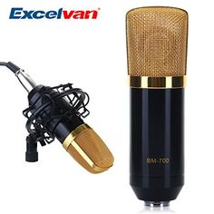 Excelvan® Condenser Sound Recording Microphone + Mic Shock Mount, Ideal for radio broadcasting studio, voice-over sound studio, recording and so on(Black) STORM STORE http://www.amazon.ca/dp/B00K72EOQM/ref=cm_sw_r_pi_dp_xj2Hvb0S8RS4H
