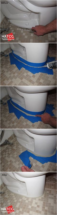 How to re-caulk a toilet. useful for those do it yourselfers