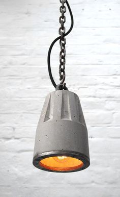 """Concrete Pendant lamp with hanging chain"" ""By Brutal Design"" #ConcreteLamp"