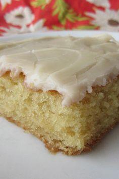 White Texas Sheet Cake | KitchMe