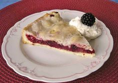 German Blackberry Pie - an original german cake recipe