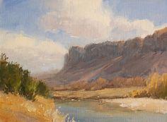 River Border by Laurel Daniel Oil ~ 9 x 12