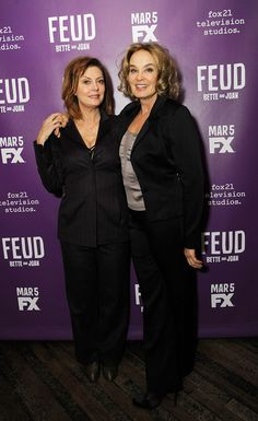 """Jessica Lange Photos Photos - Susan Sarandon, and Jessica Lange attends the """"Feud"""" Tastemaker Dinner at The Monkey Bar on February 13, 2017 in New York City. - 'Feud' Tastemaker Dinner"""
