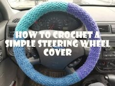 How to Crochet a Simple Steering Wheel Cover - free video tutorial by Tawny Mumzee. Crochet Car, Crochet Home, Learn To Crochet, Free Crochet, Cute Car Accessories, Crochet Accessories, Quilt Ladder, Crochet Coffee Cozy, Loom Craft