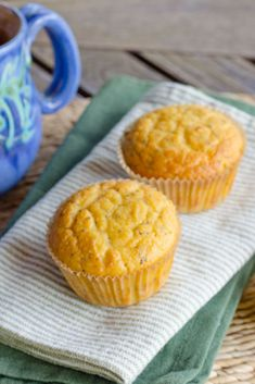 Lemon Poppy Paleo Muffins are quick and easy. Just add everything to the food processor the batter is ready in about five minutes. Paleo, gluten-free, and grain-free. | cookeatpaleo.com