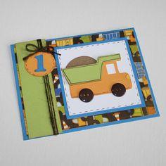 Dump truck birthday invitations - Boy birthday invitations - set of 12. $30.00, via Etsy.