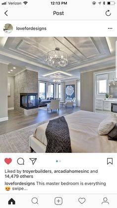 Master Bedroom Design, Home Decor Bedroom, Modern Bedroom, Bedroom Ideas, Bedroom Designs, Master Suite, Master Bedrooms, Luxury Master Bedroom, Teen Bedroom