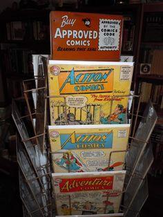 vintage comic rack