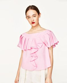 Image 2 of FRILLY BLOUSE from Zara