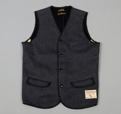 """BROWN'S BEACH"" VEST, GREY :: HICKOREE'S"