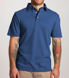Learn more about our Polos from Dirtball, a company dedicated to ethically producing products with eco-friendly practices. http://shopgoodcloth.com/collections/mr-good-cloth/products/copy-of-pre-order-polo-in-bluestar