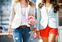 Two Penny Blue blazers ( + Loren Hope necklaces )