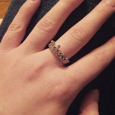 Cute Diamante Crown Shaped Ring