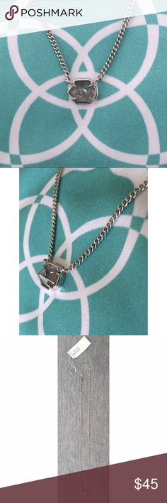 NWT Kendra Scott Mabel Mirror Rock and Silver Small and simple you can add an exclamation point of scintillating sparkle to any outfit with this cute mirror rock crystal necklace! Add to your collection or start a new one! Perfect condition, never worn! Kendra Scott Jewelry Necklaces
