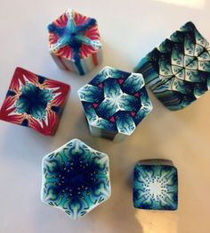 Cara Jane Intricate Kaleidoscope Canes made in a workshop with Sarah Shriver