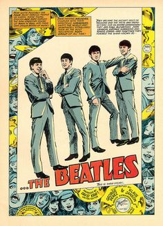 The Beatles in Comics La storia dei Beatles a fumetti! The Beatles in Comics Beatles Poster, Les Beatles, Beatles Art, Rock Posters, Band Posters, Concert Posters, Movie Posters, Poster Retro, Vintage Music Posters