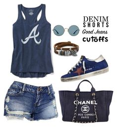 """""""Casual"""" by alice-fortuna on Polyvore featuring Chanel, Old Navy, Golden Goose, BillyTheTree and Ray-Ban"""