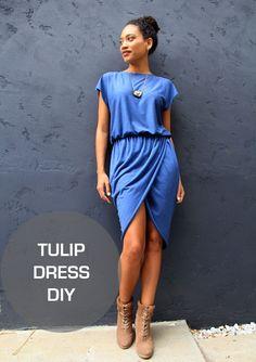 Трикотажное платье с запахом (Diy)