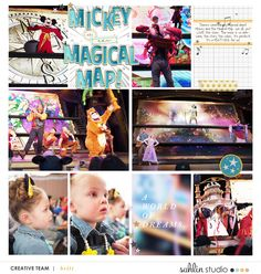 Mickey and the Magical Map | Disney Project Life layout using Project Mouse: Beginnings Kit and Journal Cards by Sahlin Studio and Britt-ish Designs