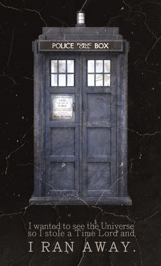 I wanted to see the universe so I stole a Time Lord and I ran away.