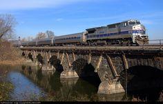 RailPictures.Net Photo: Amtrak 513 Amtrak GE P32BWH (Dash 8-32BWH) at Dunncanon , Shermans Creek, Pennsylvania by WILLIAM KLAPP
